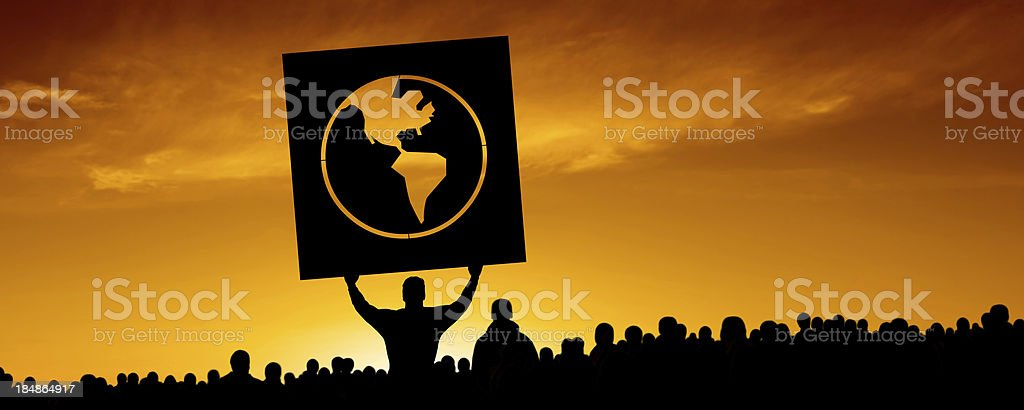 XXXL anti-globalization protestors royalty-free stock photo