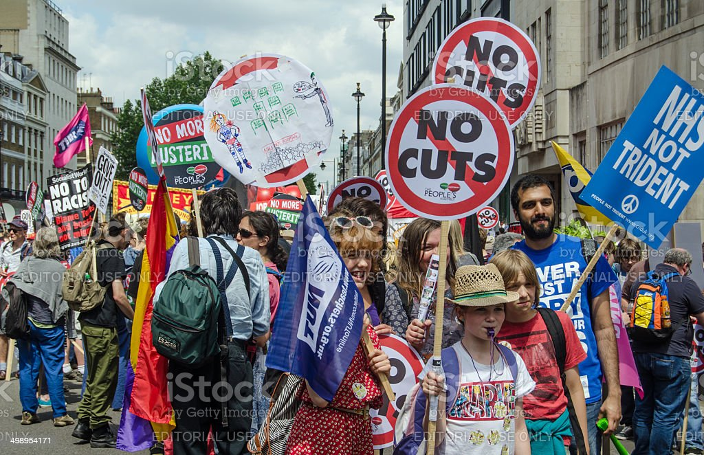 Anti-Government protest, London stock photo