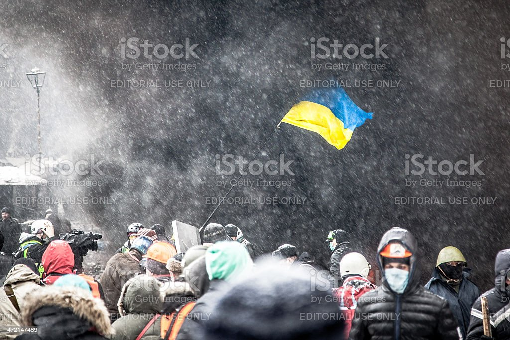 Anti-government protests outbreak Ukraine royalty-free stock photo