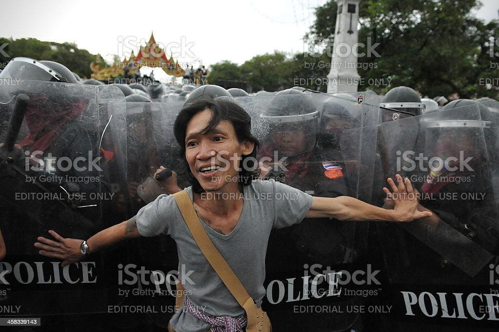 Anti-Government Rally in Bangkok royalty-free stock photo