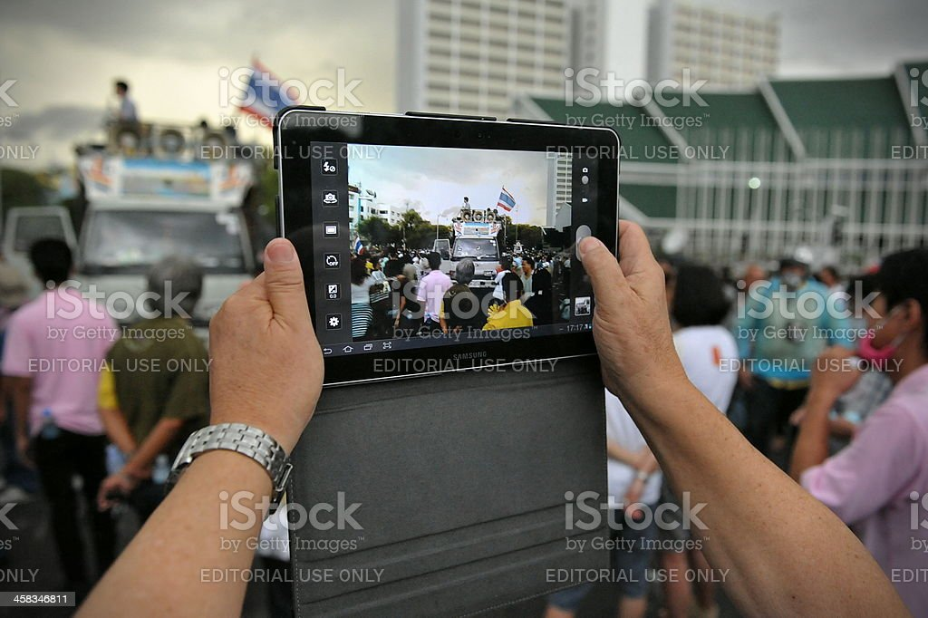 Anti-Government Rally in Bangkok stock photo