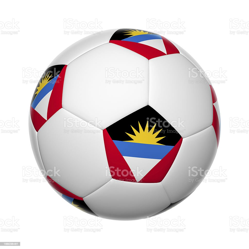 Antigua and Barbuda soccer ball stock photo