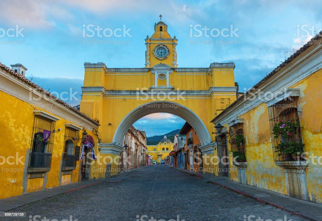 Antigua Arch stock photo