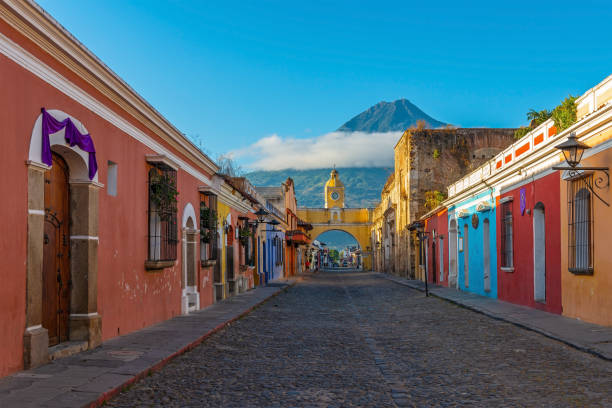 Antigua City, Guatemala stock photo