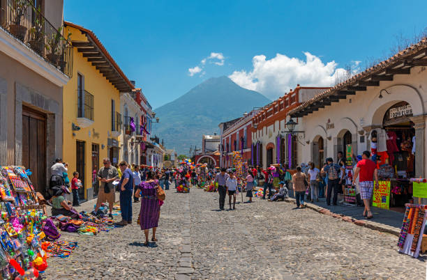 Antigua City Life, Guatemala stock photo