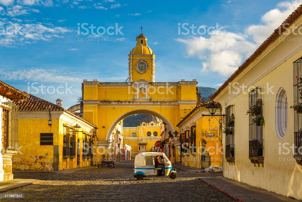 Antigua downtown stock photo