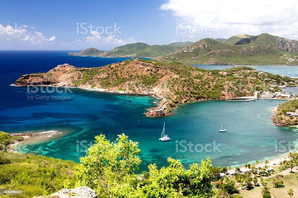 Antigua - English Harbour stock photo