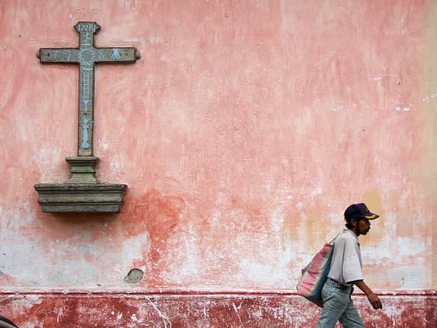 Antigua, Guatemala  Cross stock photo