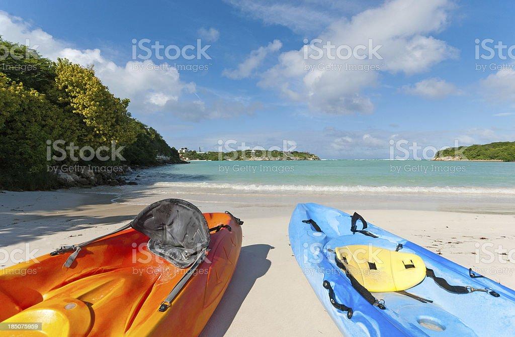 Antiguan beach stock photo