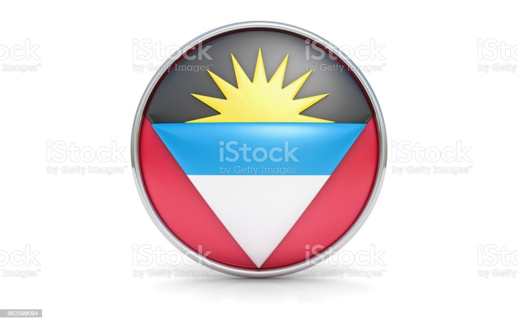 Antiguan flag stock photo