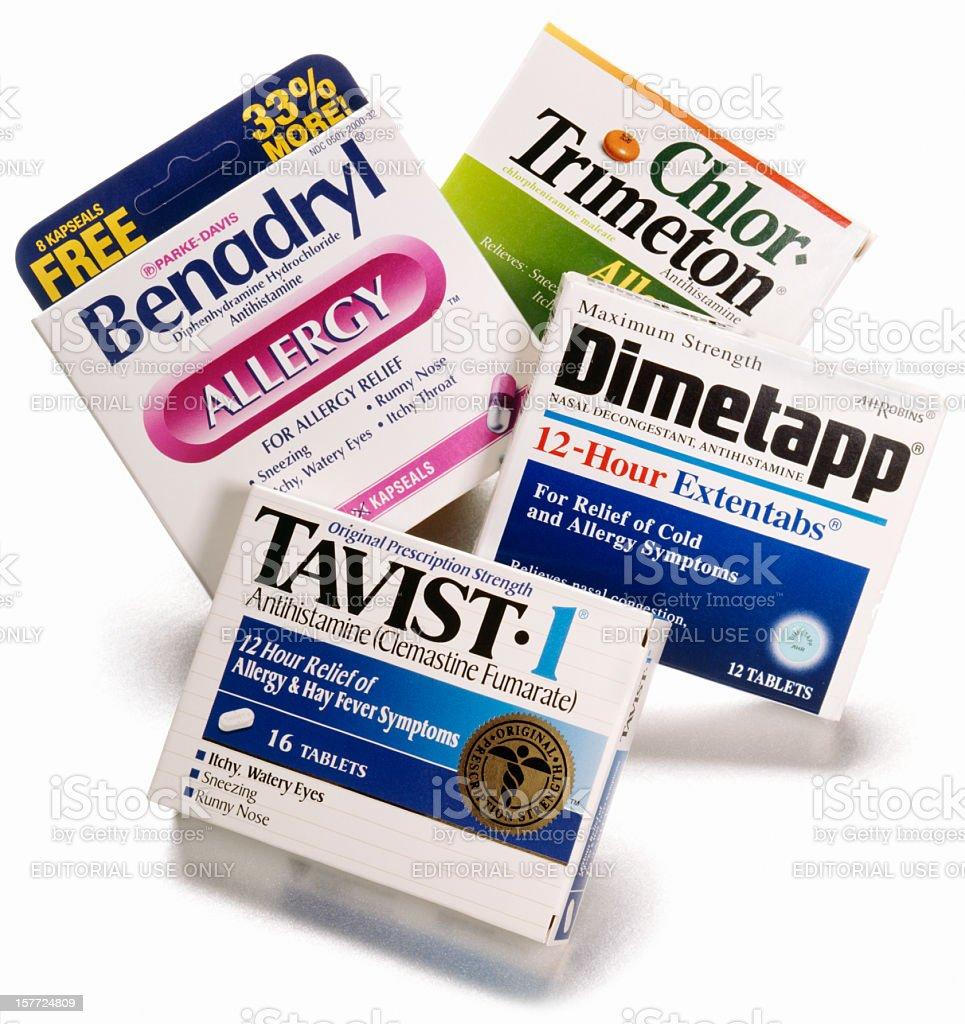 antihistamine royalty-free stock photo