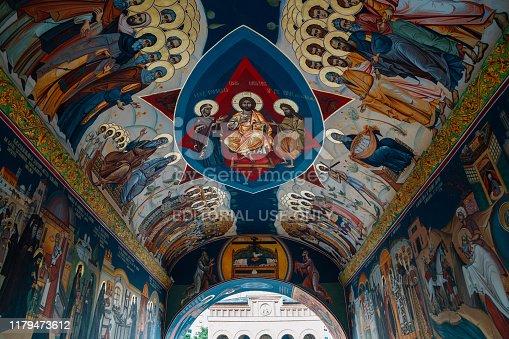Bucharest, Romania - July 27, 2019 : Antim Monastery