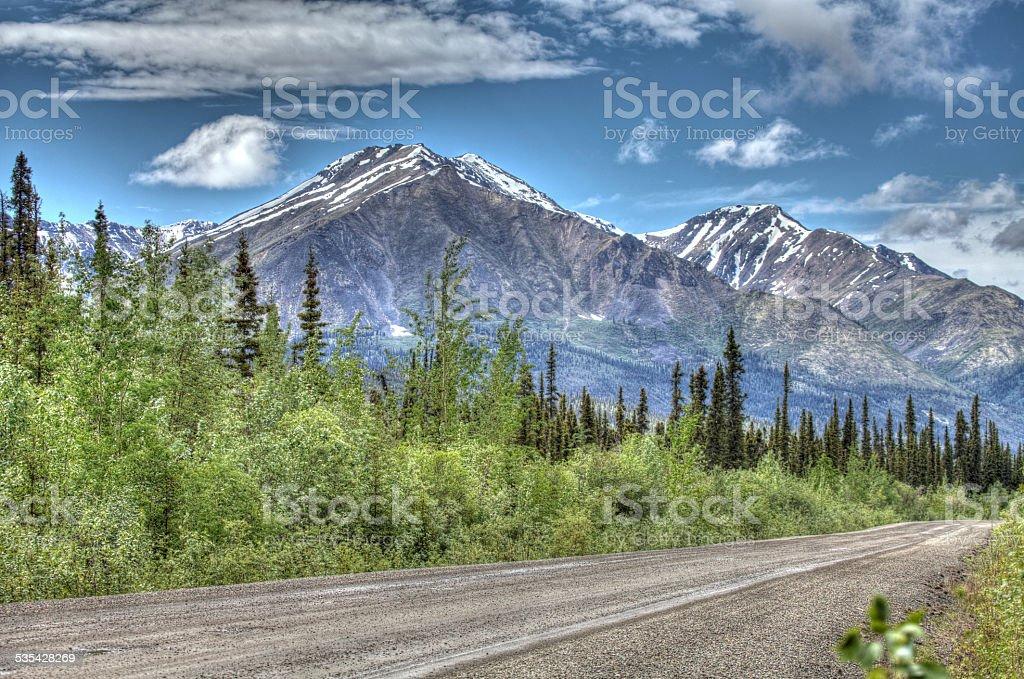 Antimony Mountain, Yukon Territory, Canada. stock photo