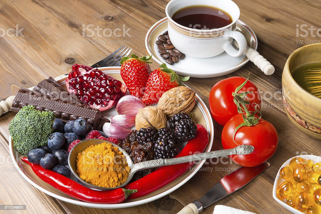 Antioxidant meal stock photo