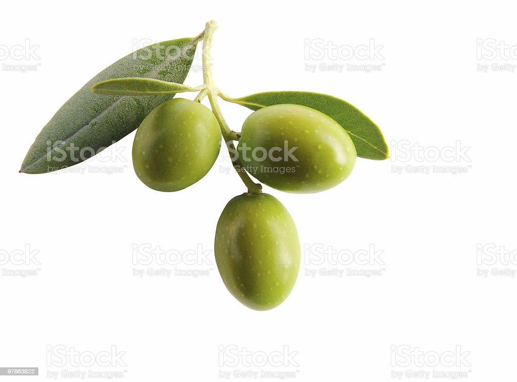 Antipasti - olives isolated III stock photo