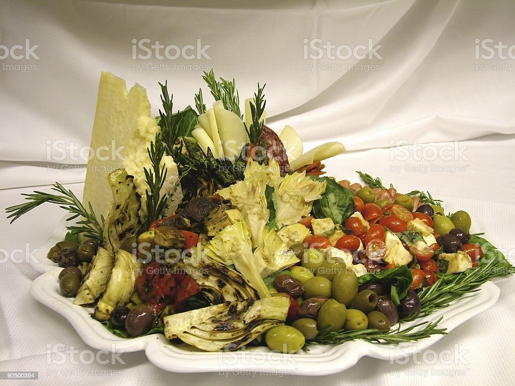 Antipasti Tray stock photo