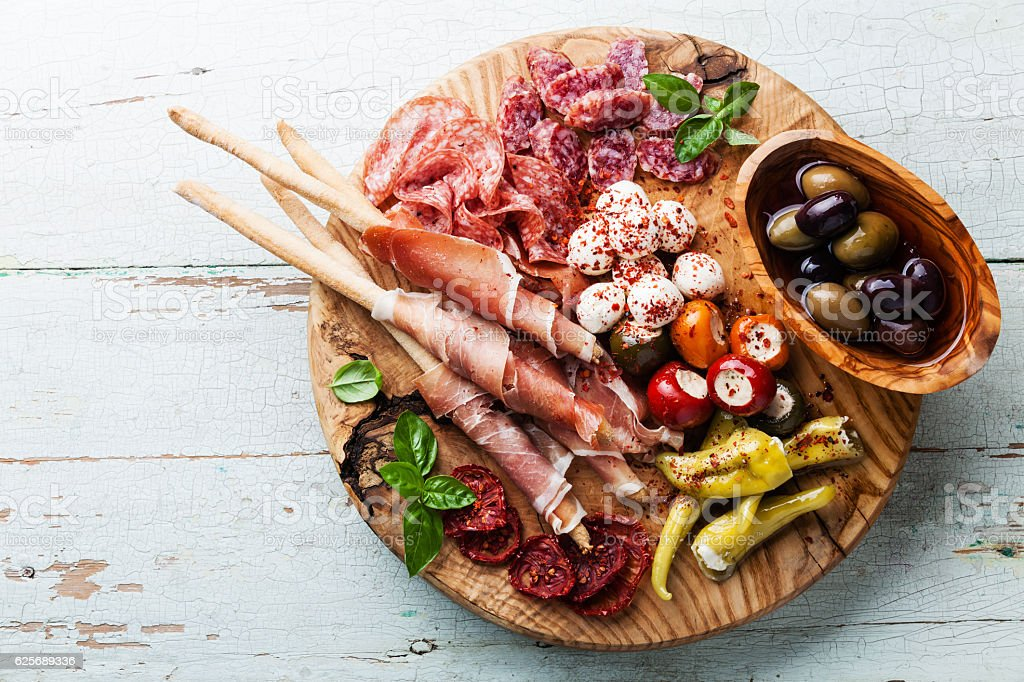 Antipasto Platter stock photo