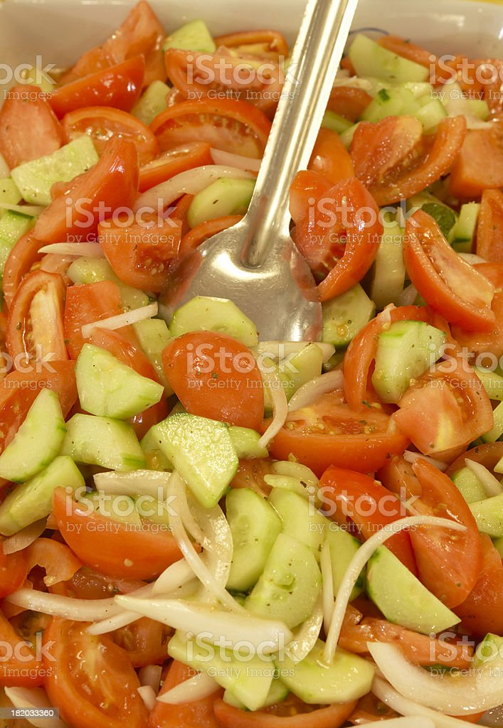 Antipasto salad stock photo
