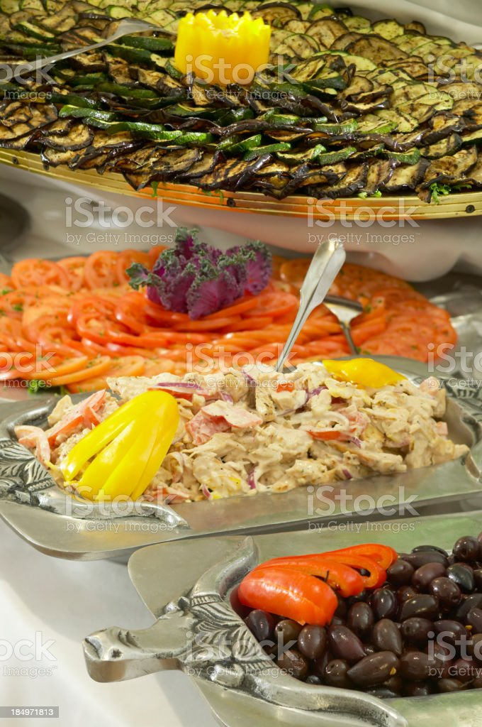Antipasto Table royalty-free stock photo