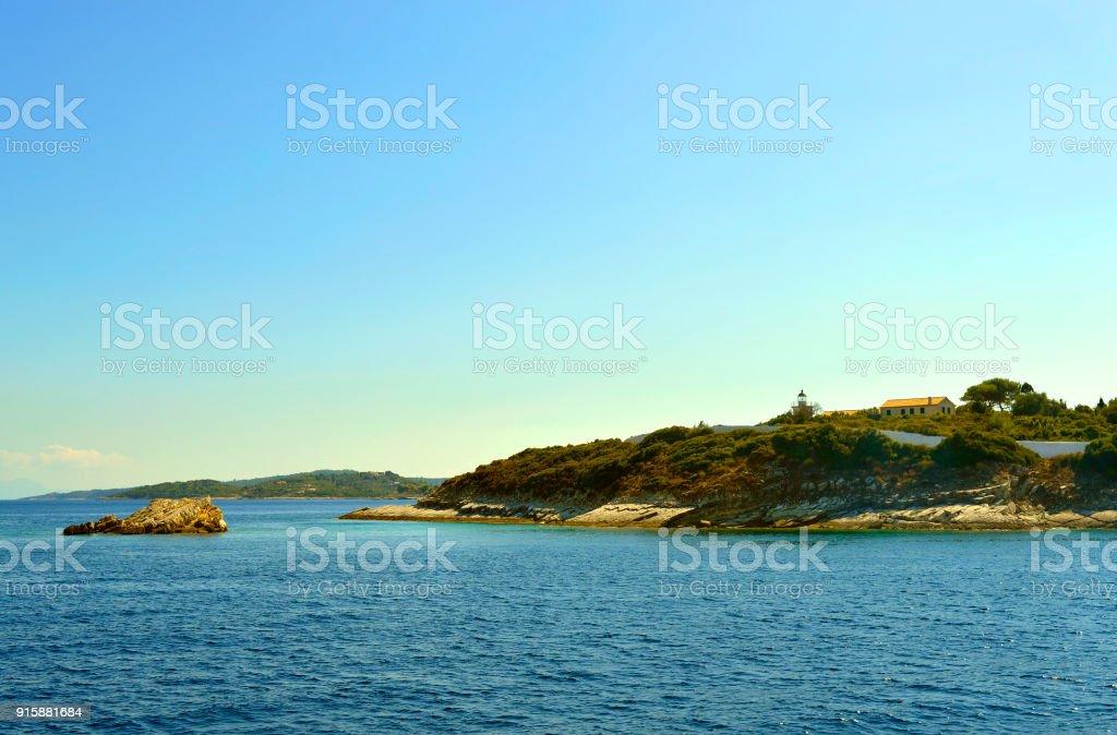 Antipaxos uma ilha grega no mar Jônico - foto de acervo