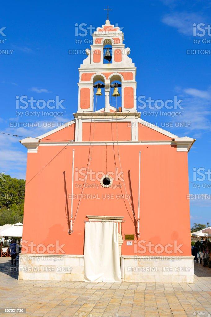 Igreja de Porto de Antipaxos - foto de acervo
