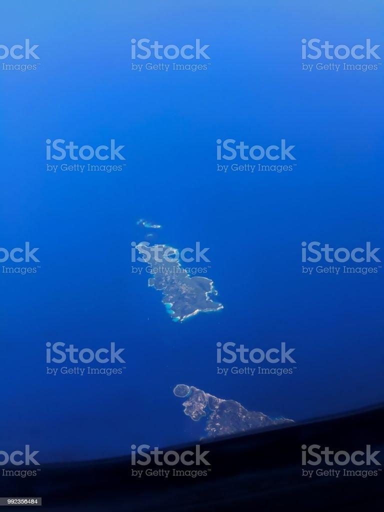 Antipaxos-ilha do céu, Grécia. - foto de acervo