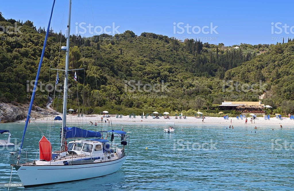 Antipaxos island in Greece stock photo