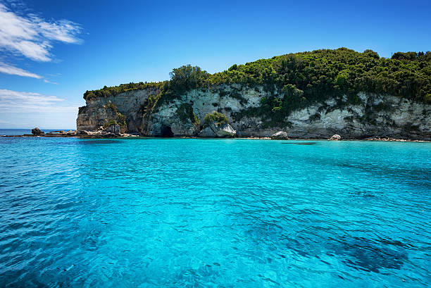 Antipaxos island, Ionian sea, Greece stock photo