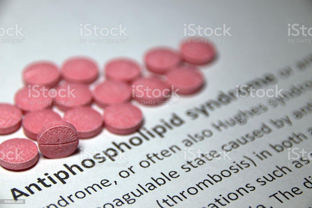 Antiphospholipid syndrome stock photo