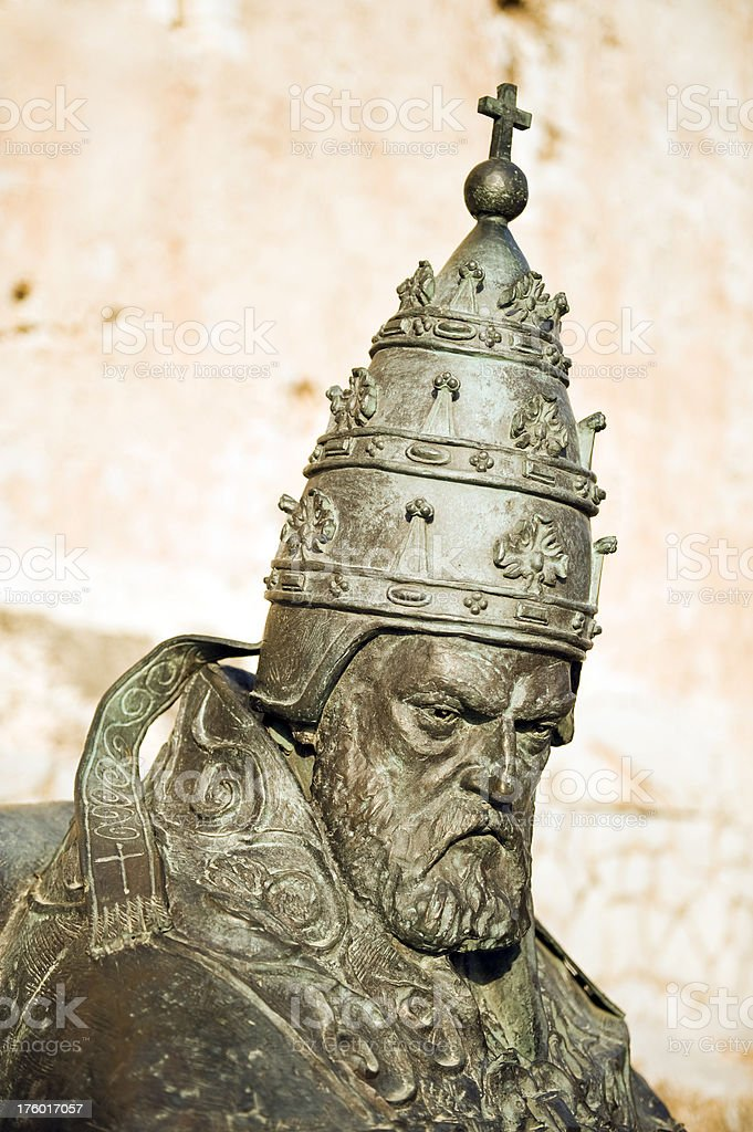 Antipope Benedict XIII royalty-free stock photo