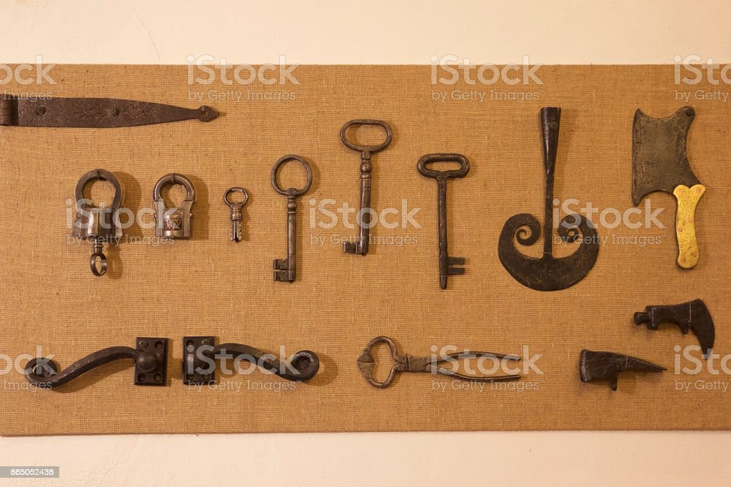 Antiquarian ironware of the early twentieth century stock photo