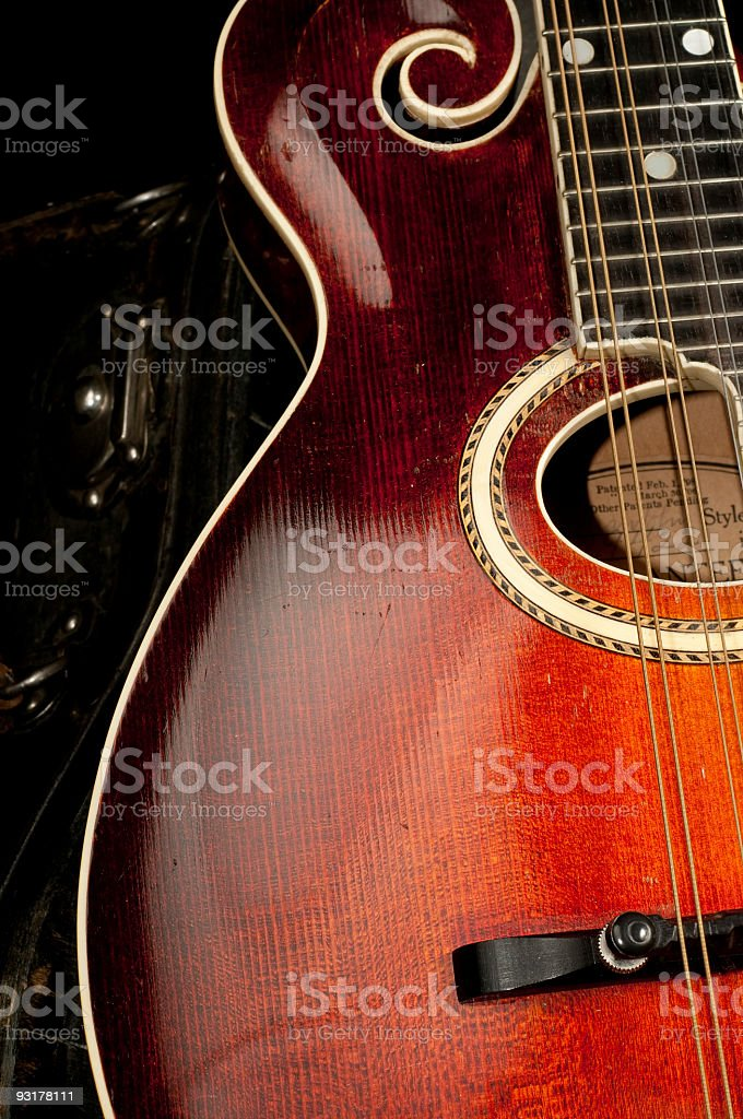 Antique 1904 Gibson G-Style Mandolin stock photo