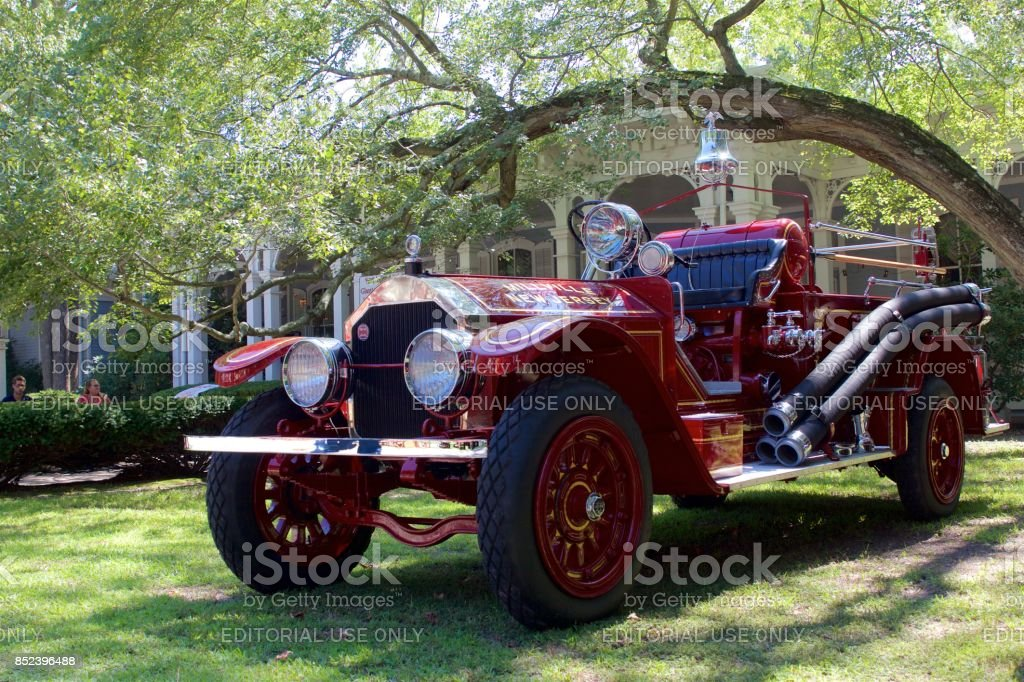 Antique 1925 American LaFrance fire engine stock photo