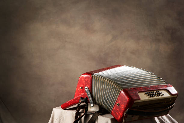 antique accordion - accordion stock photos and pictures