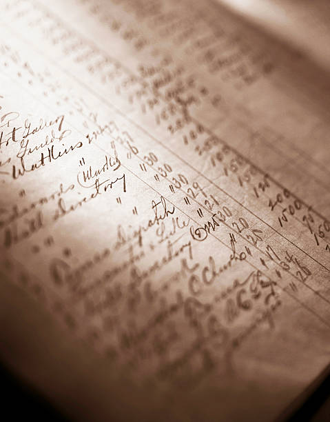 Antique accounting ledger. Antique accounting ledger. accounting ledger stock pictures, royalty-free photos & images