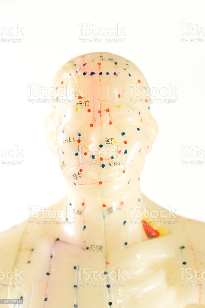 antique acupuncture doll royalty-free stock photo