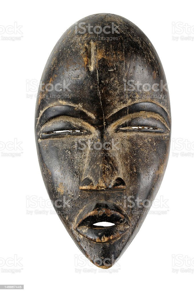 Antique African Mask stock photo