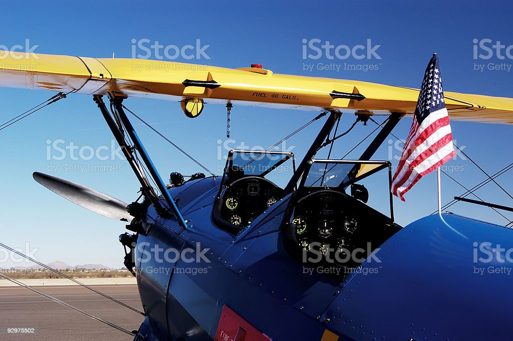 Antique Aircraft 5 stock photo