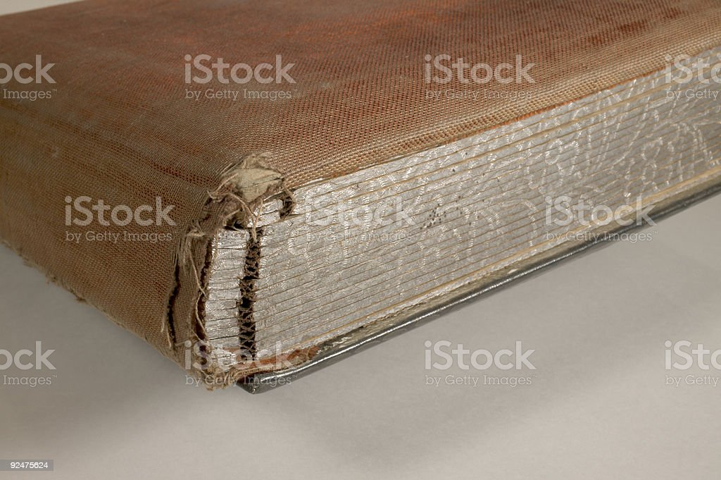 Antique album binding royalty-free stock photo