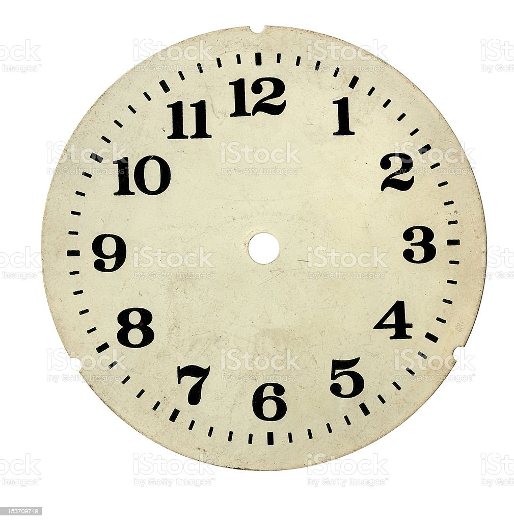 antique and old clock face royalty-free stock photo