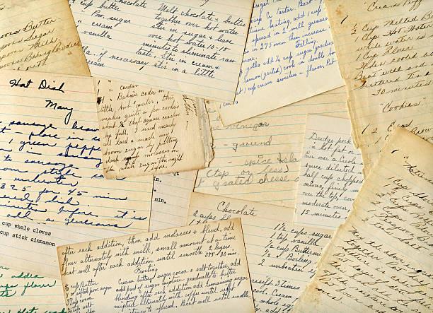 Antique Vintage de manuscrite et des recettes - Photo