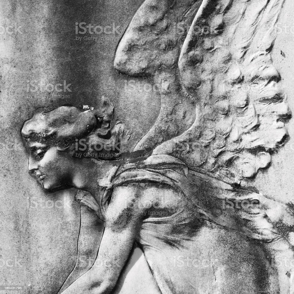 antique angelic bas-relief royalty-free stock photo