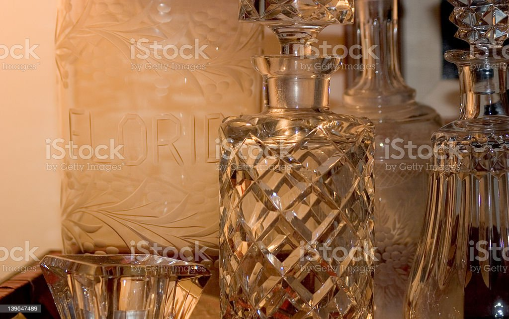 Antique Apothecary Bottle Assortment royalty-free stock photo