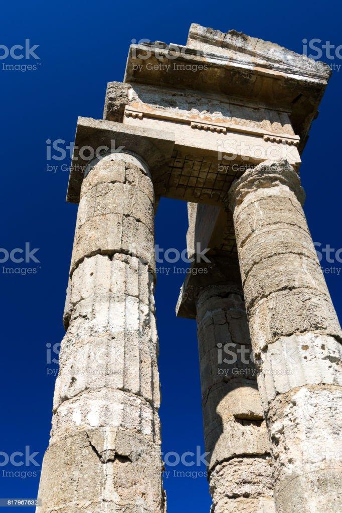 Antique architecture in Greece stock photo