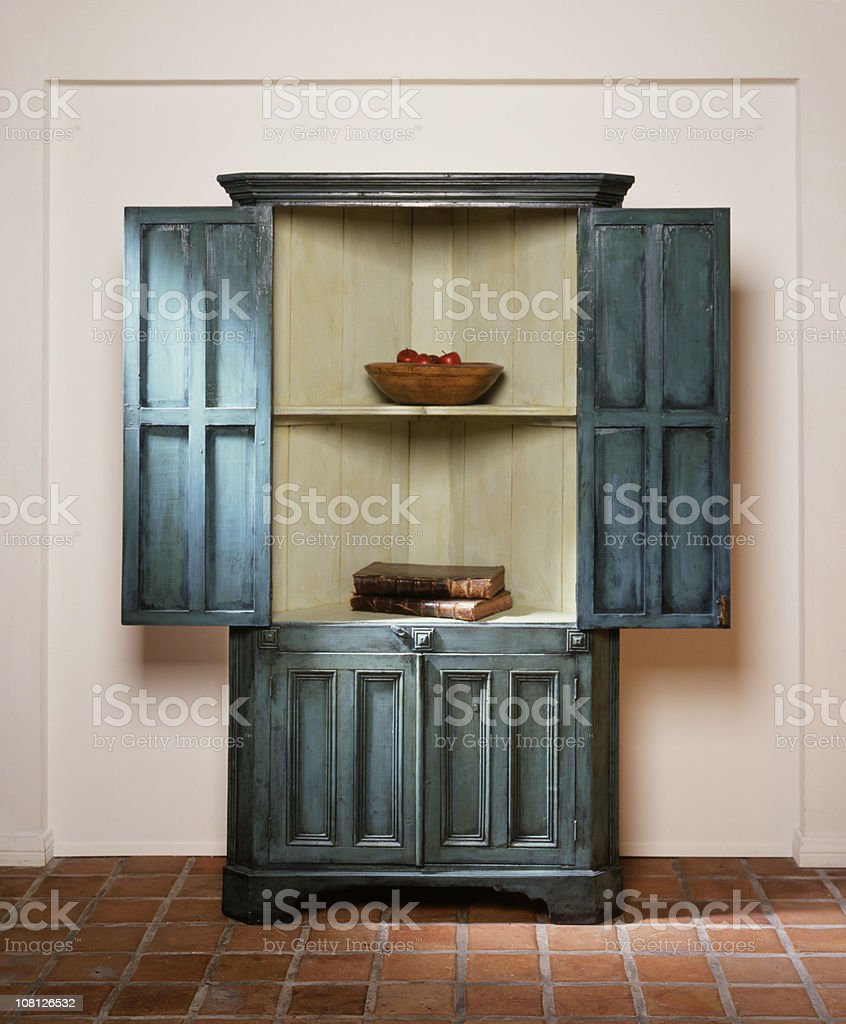 Antique Armoire with Doors Open royalty-free stock photo