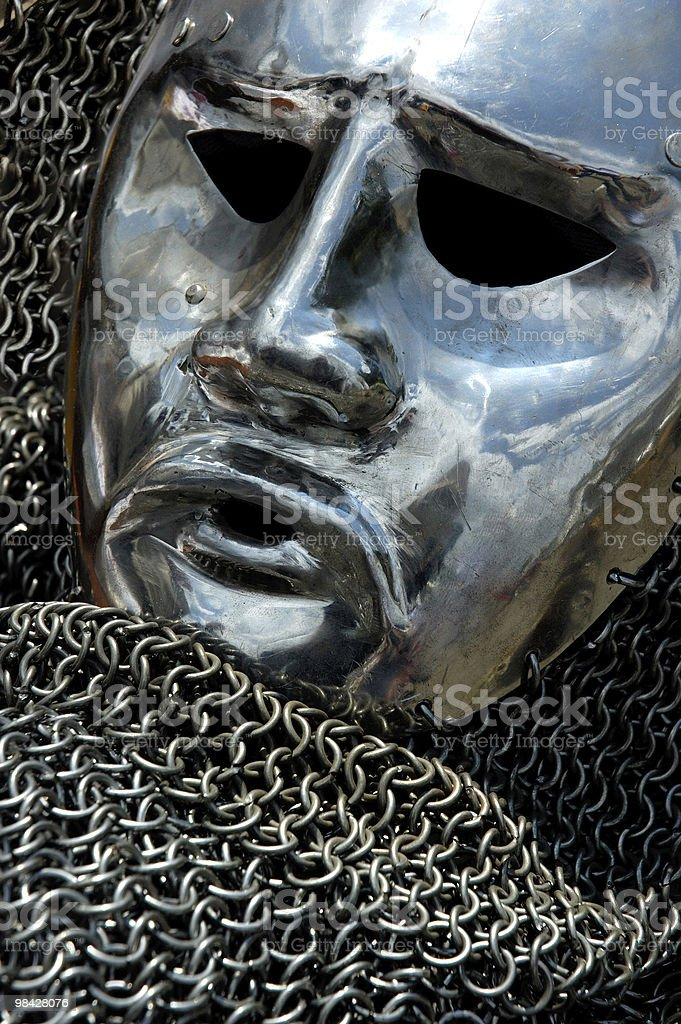 Antique Armour Metal Human Face royalty-free stock photo