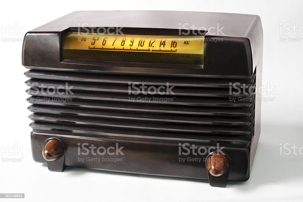 Antique Art Deco 1930's Radio royalty-free stock photo