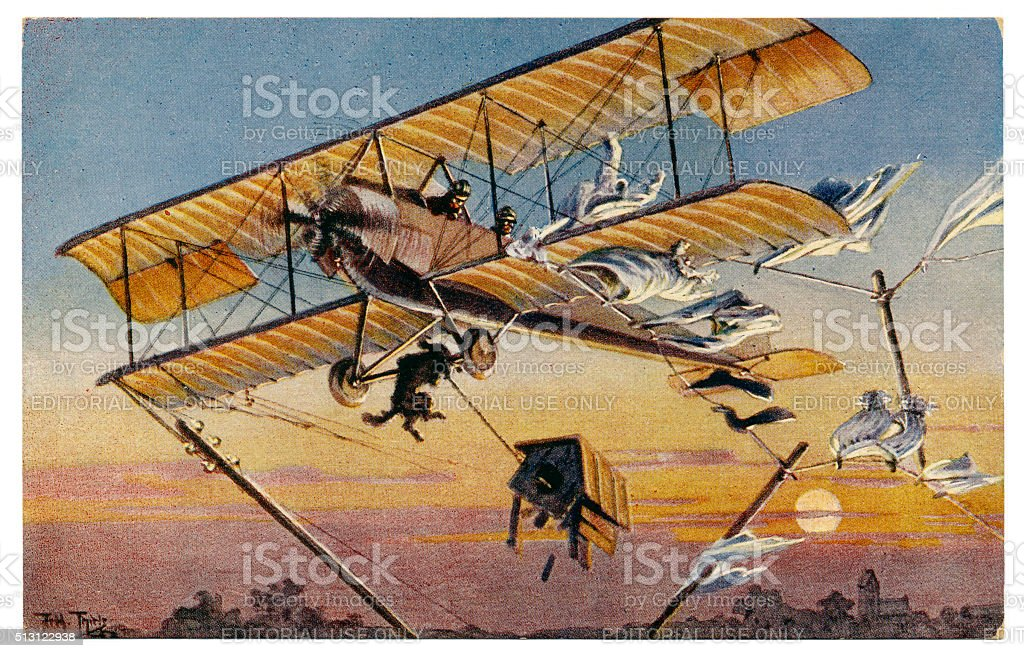 Ancienne carte postale de l'artiste signé par Arthur Thiele l'humour 1910 - Photo
