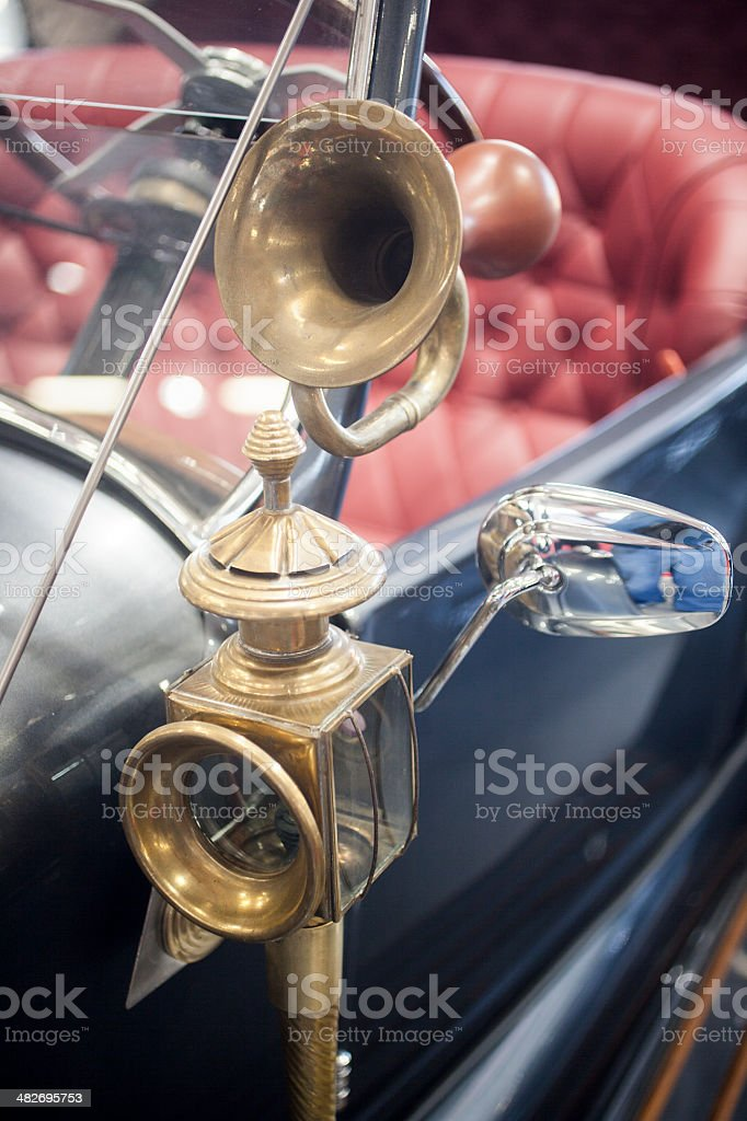 Antique Automobile Horn royalty-free stock photo