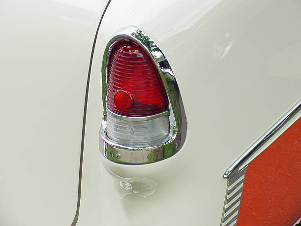Antique Automobile Taillight stock photo